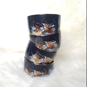 Oriental styled tea cups